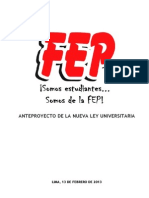 Propuesta de Ley Universitaria Fep