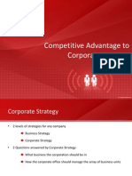 Competitive Advantage to Corporate Strategy