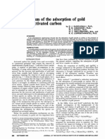 The mechanism of the adsorption of gold cyanide on activated carbon