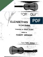 Elizabethan Lute Duets for Guitar