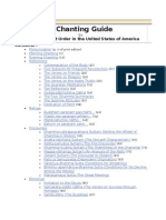 A Chanting Guide