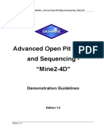 Advanced Open Pit Design and Sequencing - Mine2-4D