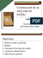 Construccion de Un Reloj Solar de Bolsillo