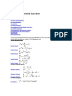 Links to Solved Problems in Ordinary Differential Equations