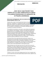 Falsos positivos-Garzвn apoya la actuaciвn de la Fiscalбa colombiana