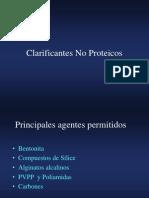 Clarificantes No Proteicos