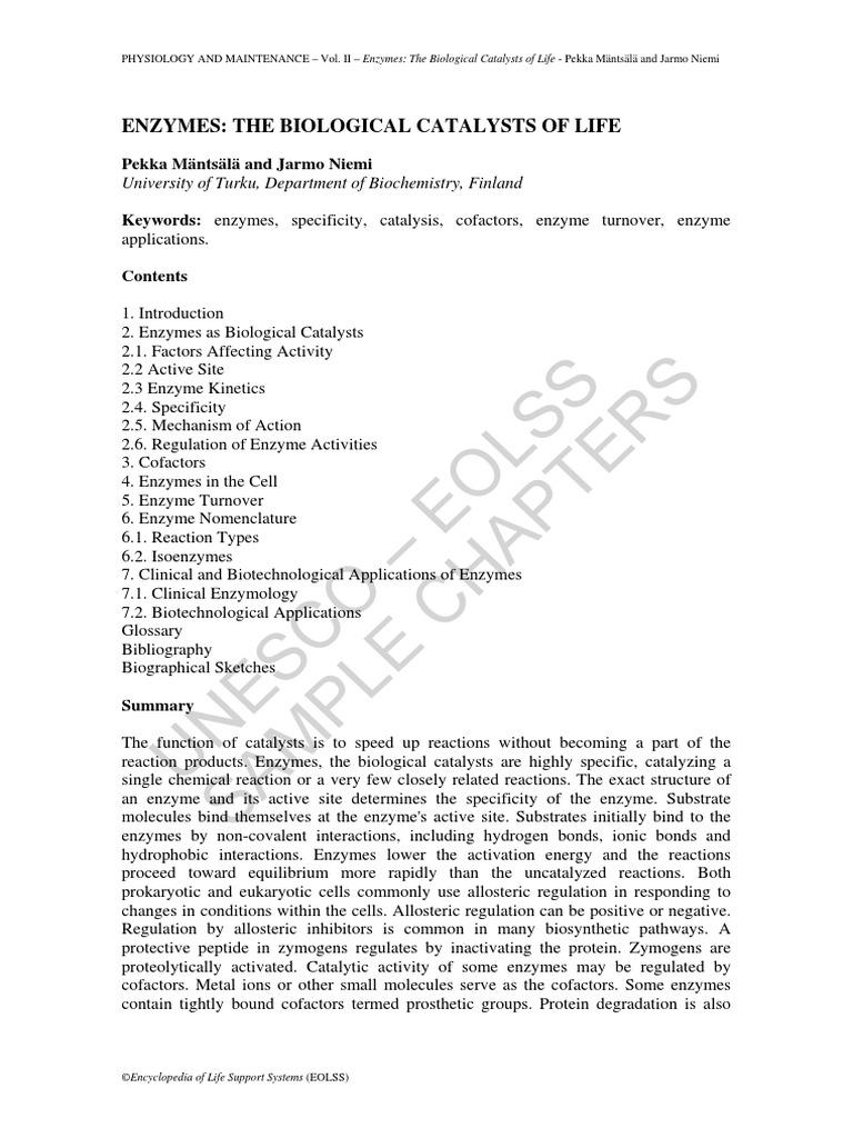 Enzymology pdf of fundamentals