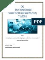 THE SBA-Social Studies