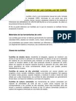 TEORÍAS Y FUNDAMENTOS DE LAS CUCHILLAS DE CORTE
