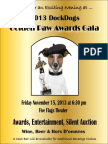 Golden Paw Awards Gala Reservation Form