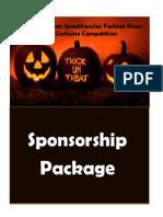 2013 halloween sponsor package