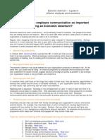 Internal Communication During an Economic Downturn