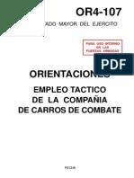 OR4-107 - Orientaciones de empleo táctico de la Cía. de carros de combate - (ET 1994)
