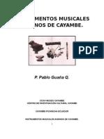Instrumentos Musicales Andinos de Cayambe - Pablo Guaña