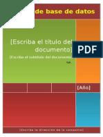 Una base de datos se define como un fichero en el cual se almacena información en campos o delimitadores