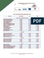 Formato Listado de Precios 2012