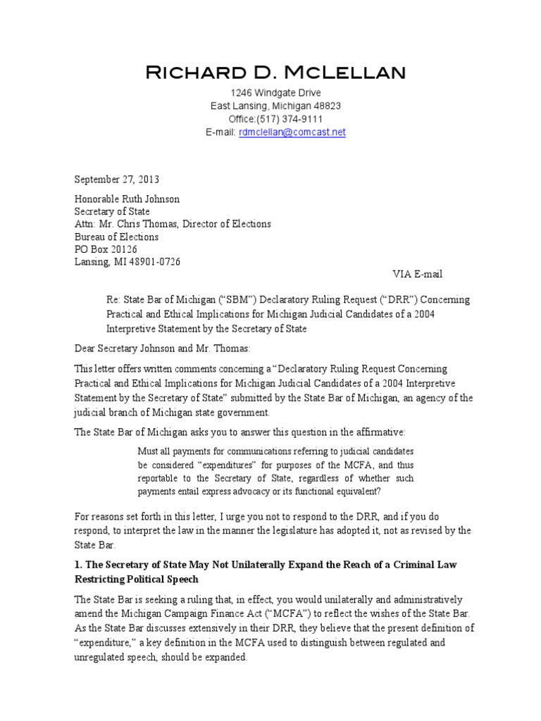 pdf version letter to secretary of state re declaratory ruling