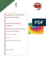 Ensayo Sobre La Importancia de Los Colores en La Web GILBERTH SANCHEZ ASTORGA ISMB-8