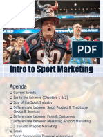 Intro to Sport Marketing