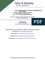 Participatory Budgeting in Porto Alegre