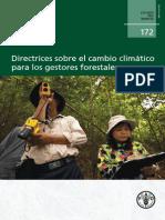 Directrices sobre el cambio climático para los gestores forestales