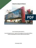 O Projeto Arquitetônico