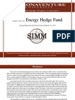 SIMM Energy Hedge Fund Annual Report for Fiscal Year of 2013
