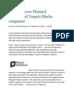 Report Proves Planned Parenthood Targets Blacks, Hispanics