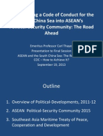 Thayer Incorporating a Code of Conduct for the South China Sea into ASEAN's Political Security Community