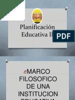 Planificación Educativa II Diapositivas