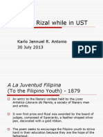 Works of Rizal while in UST.ppt