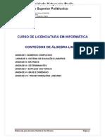 Conteudo Algebra Ispl Completo 2013