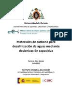 TFM Materiales de carbono para desalinización de aguas mediante desionización capacitiva