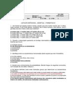Lista de Exercicios - Genetica - Formativa 01