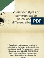 6 Types of Communicators