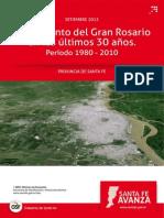 Crecimiento del Gran Rosario entre 1980 y 2010