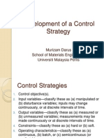 Development of a Control Strategy