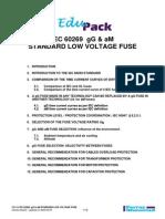 GB104 IEC60269 gG&aM Standard Low Voltage Fuses