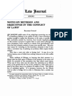 Notes on Methods and Objectives in the Conflict of Laws