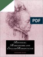 (Cambridge Studies in Romanticism ) Gregory Dart-Rousseau, Robespierre and English Romanticism (Cambridge Studies in Romanticism)-Cambridge University Press (1999)