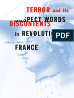 Caroline Weber-Terror and Its Discontents_ Suspect Words in Revolutionary France (2003)