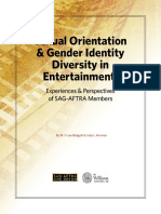 SAG-AFTRA Williams LGBT study