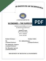 Seminar Report on W Engine- the super engine