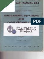 Civil Air Patrol Manual 20-1 Wings, Groups, Squadrons, and Cadet Organization