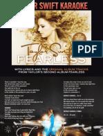 Digital Booklet - Taylor Swift Karaoke - Fearless.pdf