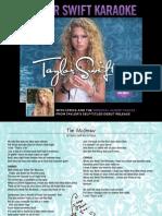 Digital Booklet - Taylor Swift Karaoke.pdf