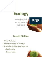 Ecology 5 - Water Pollution Conservation Biodiversity