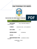 Monografia Tema; Negocio Juridico