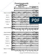 St. Matthew's Passion - Full Orchestral Score