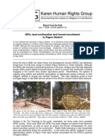 IDPs, land confiscation and forced recruitment in Papun District